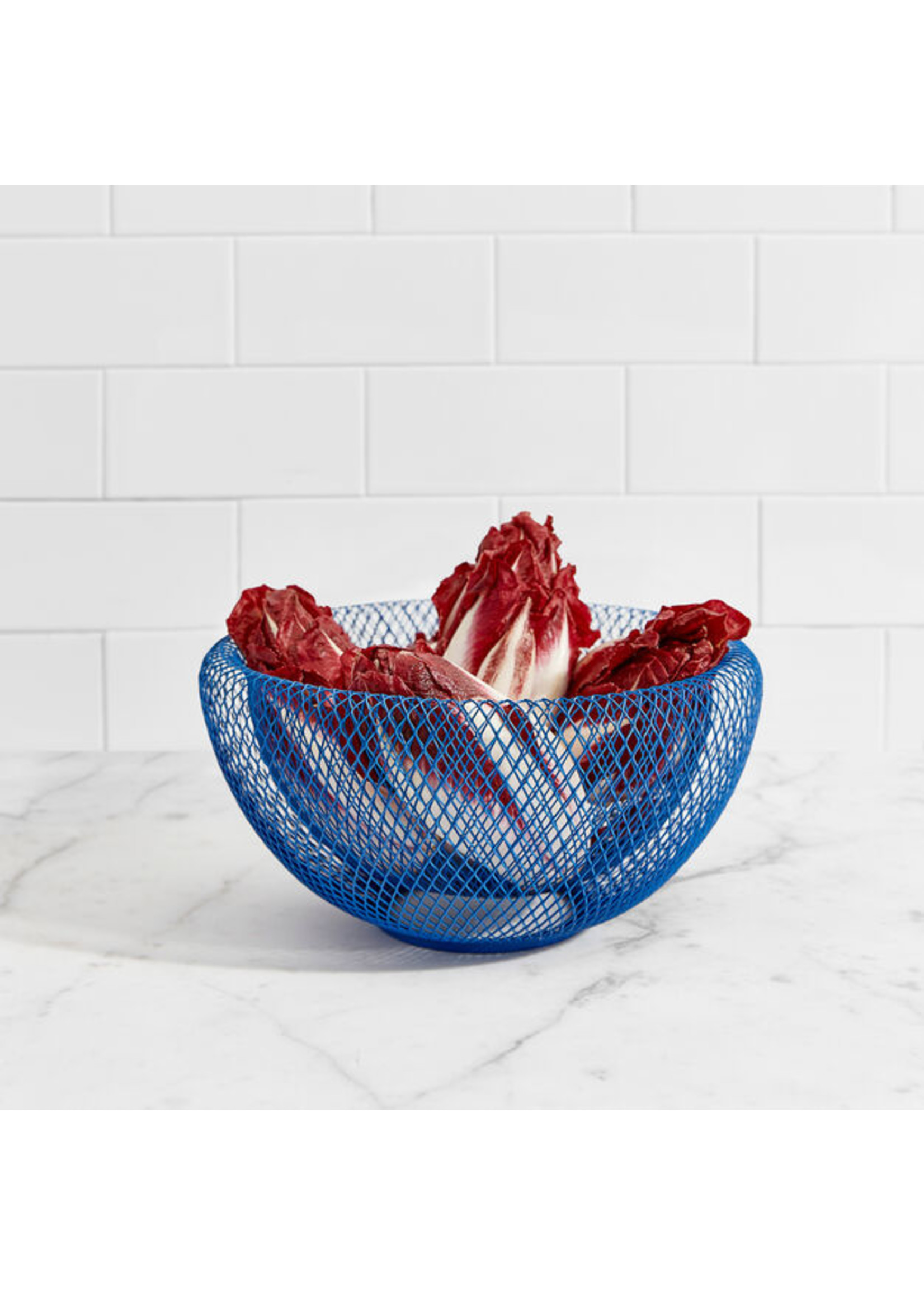 Wire bowl MoMA blue