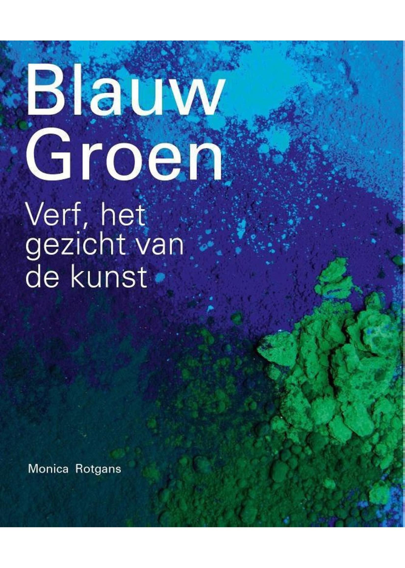 Blauw groen Verf, het gezicht van de kunst