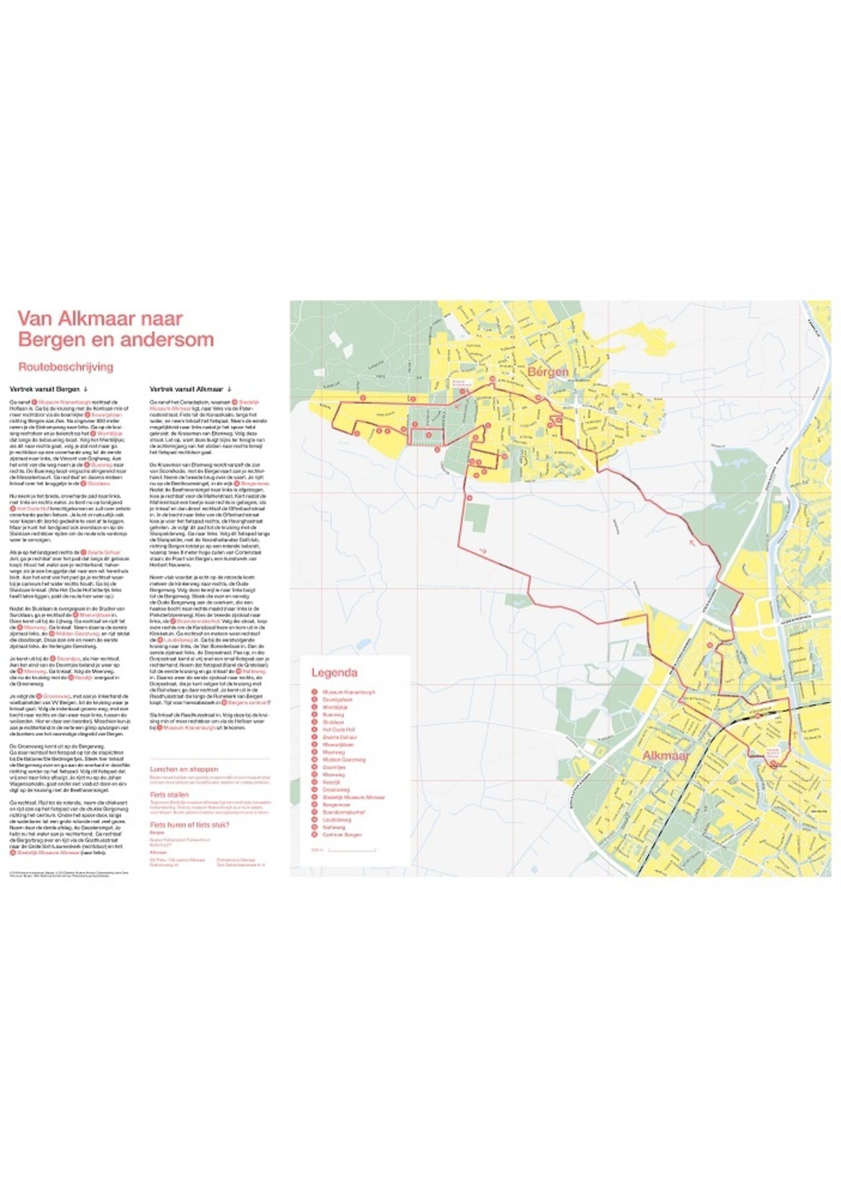 Fietskaart van Alkmaar naar Bergen