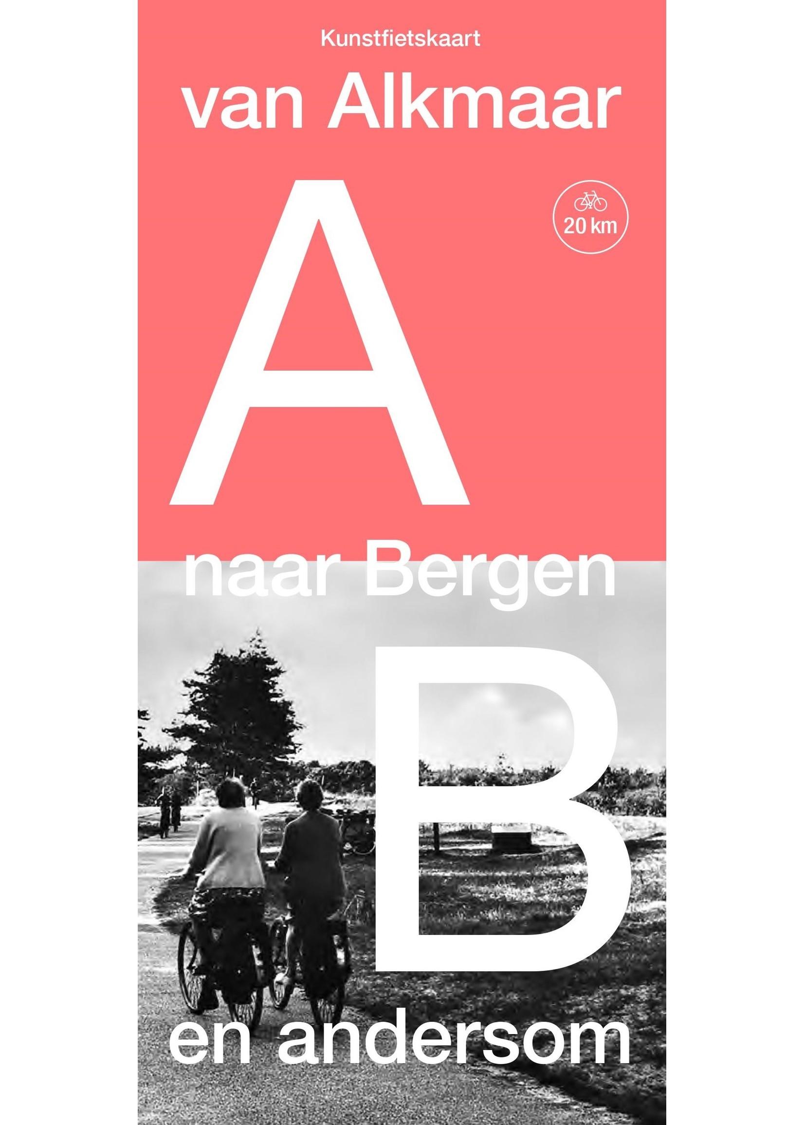 Fahrradkarte von Alkmaar nach Bergen