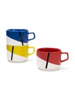 Set of 3 'De Stijl' mugs from Moma