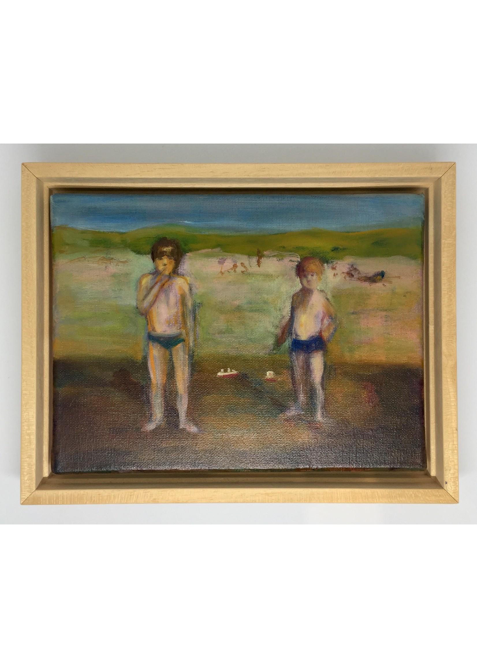 'Dampfer' - Bea van Huystee (Öl auf Leinwand)