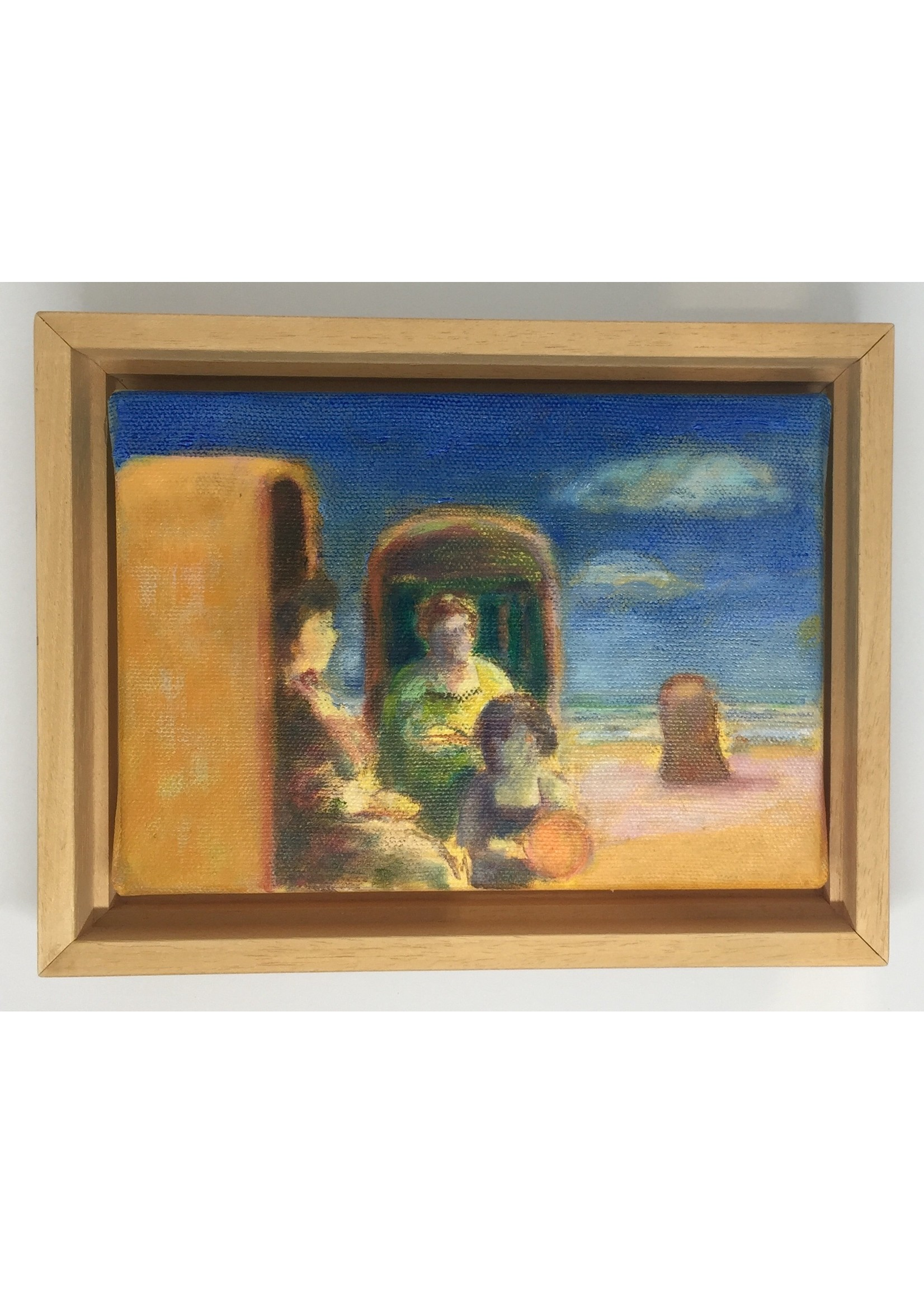 'Dagje aan zee' - Bea van Huystee (Olieverf op doek)