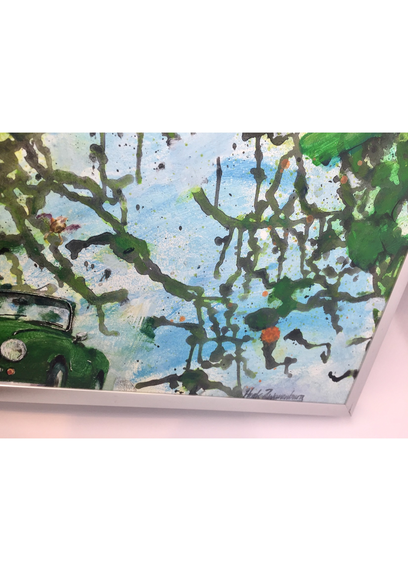 'Boslaan (Triumph Spitfire)' - Henk Zwanenburg  (acrylic on panel)