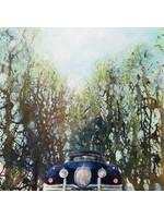 'Driveway' J(Jaguar XK)' - Henk Zwanenburg (acrylic on panel)
