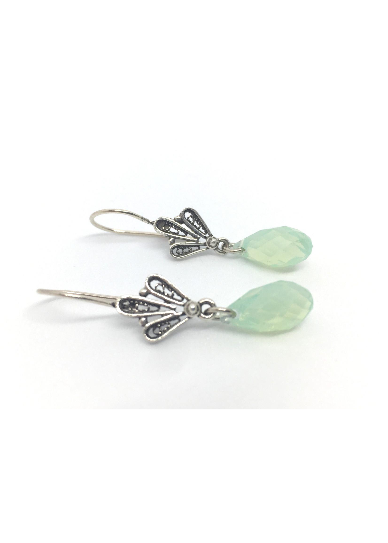 Silver earrings from Els de Ruyter with Svarovski crystal