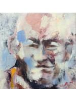 'Tibetischer Mönch' - Adri Frigge ( Öl auf Leinwand)