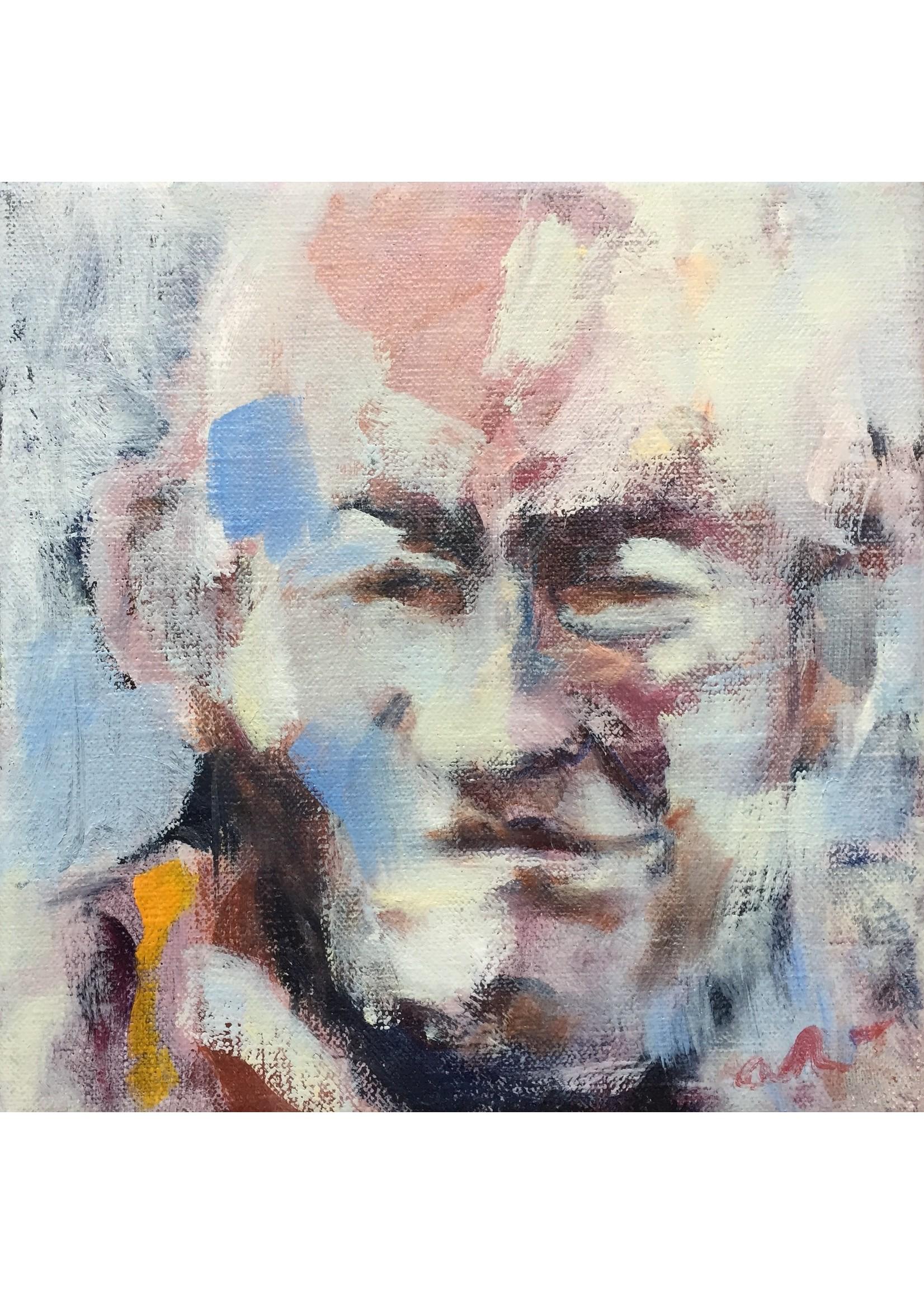 'Tibetan monk' - Adri Frigge ( Oil on canvas)