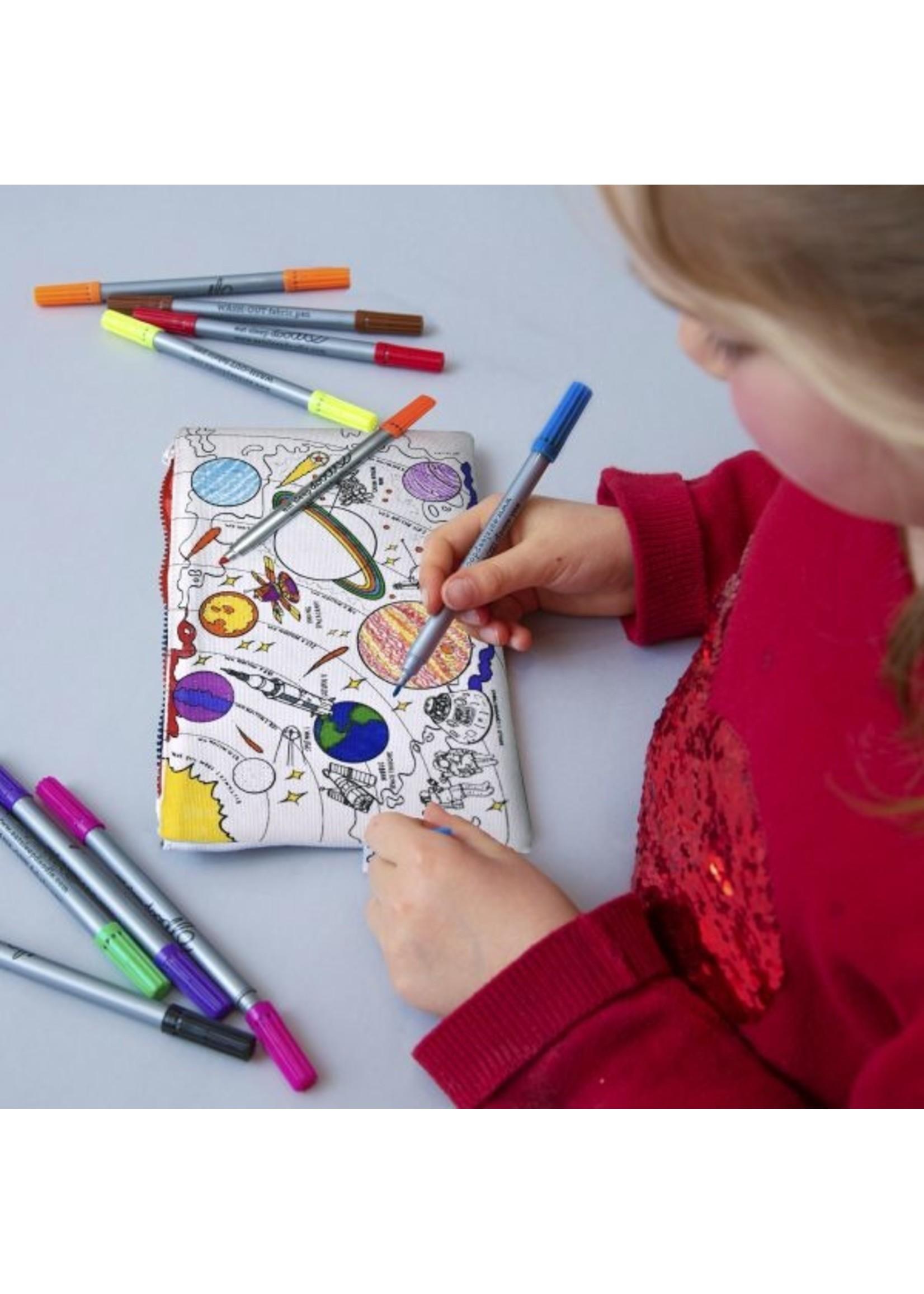 Eatsleepdoodle Pencil case Butterfly/Space Explorer Eatsleepdoodle