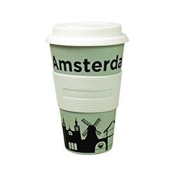 zuperzozial Bamboe 'To-Go' beker Zuperzozial Amsterdam - cruising travel mug