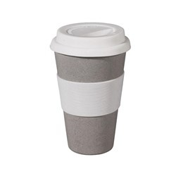 zuperzozial Bamboe 'To-Go' beker Zuperzozial grey- cruising travel mug