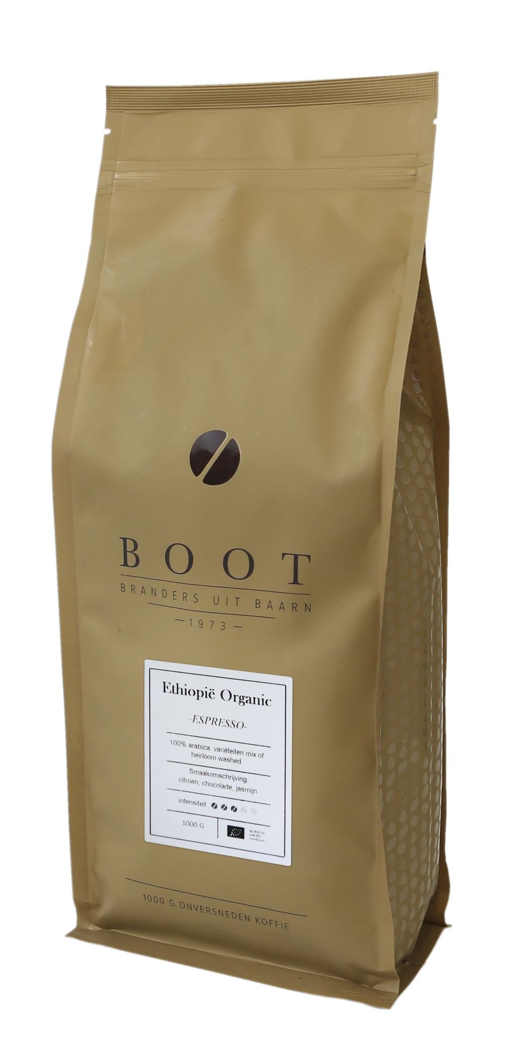 Boot koffie Ethiopië Organic Espresso - 1 kg