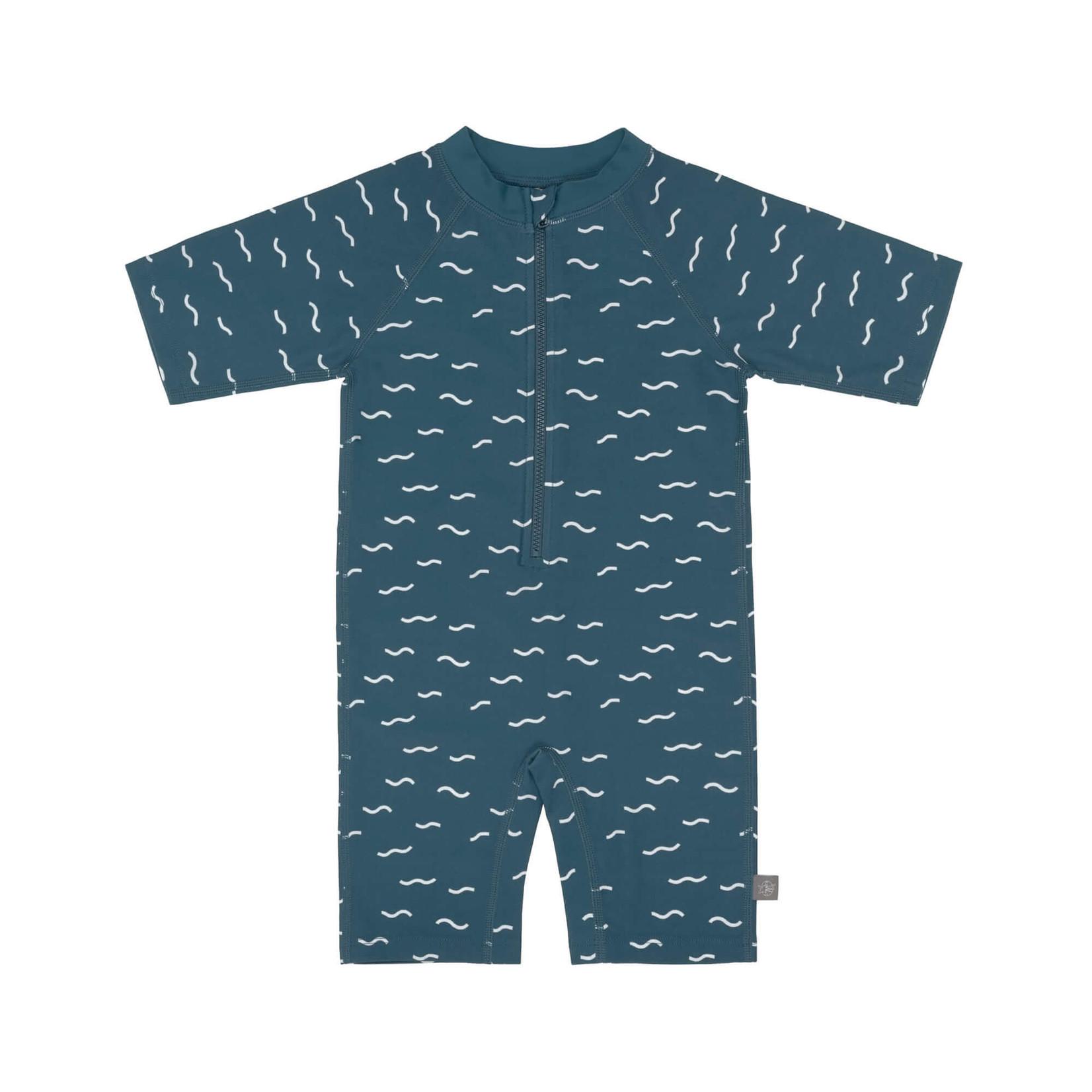 Lässig Lässig Short sleeve sunsuit Waves Blue