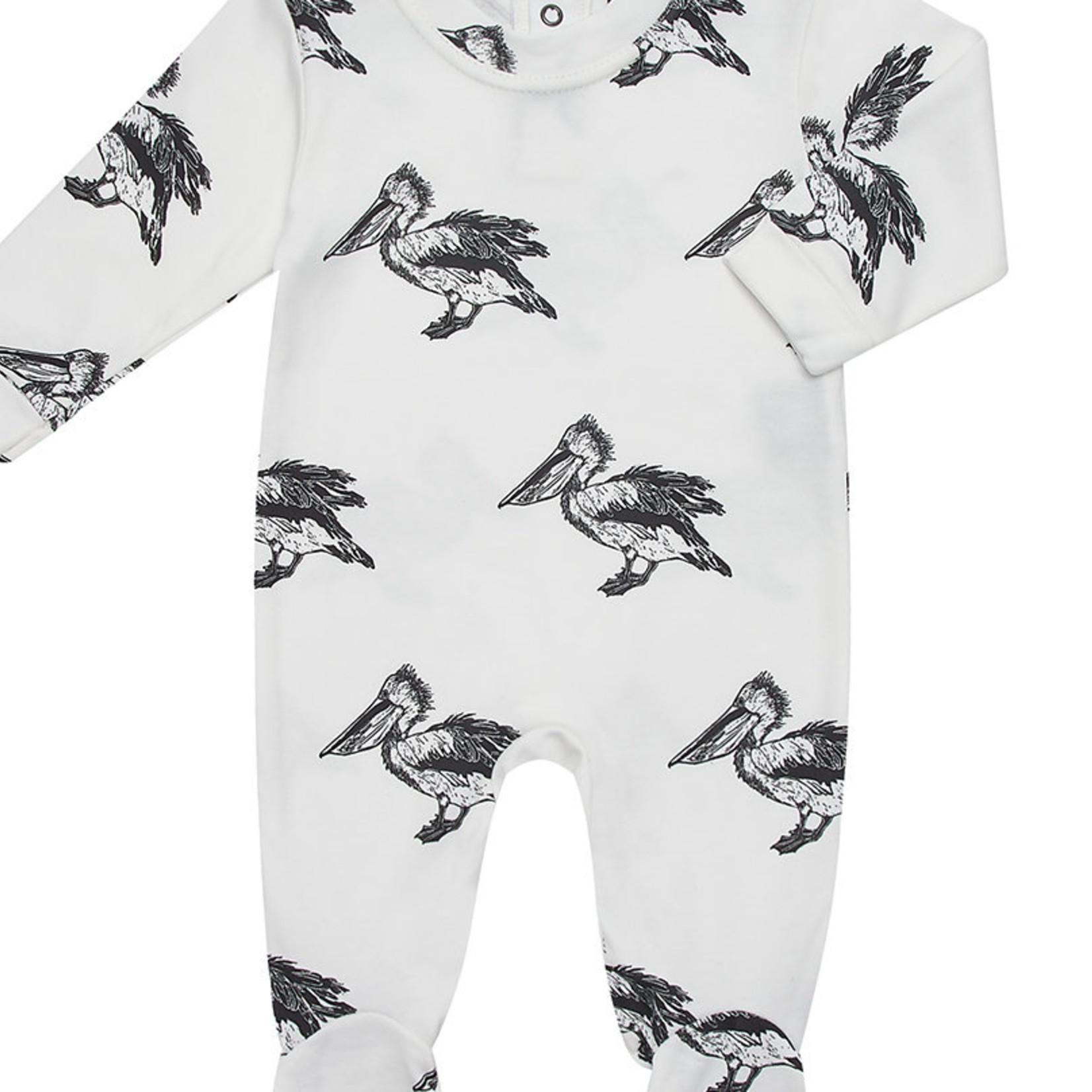 Peacheyboo Peacheyboo Pyjama / boxpakje 'Pelikaan' wit