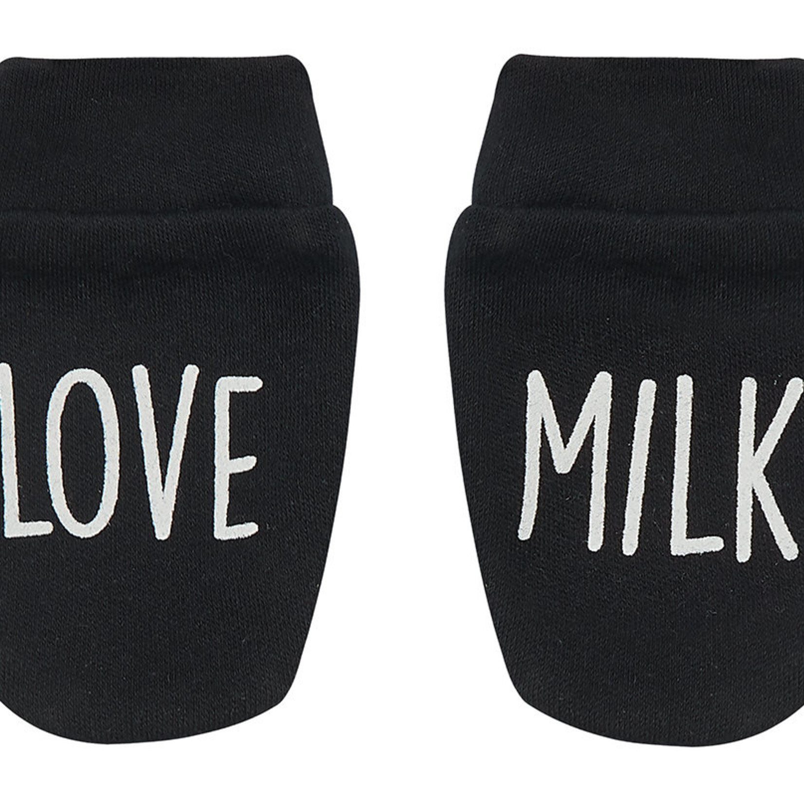 Peacheyboo Peacheyboo Krabwantjes 'Love milk' Zwart