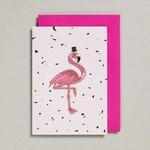 Petra Boase Petra Boase Wenskaart met opstrijk patch Flamingo