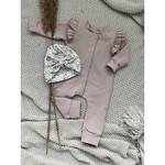 Zoofs Zoofs Ruffled Onesie Soft pink