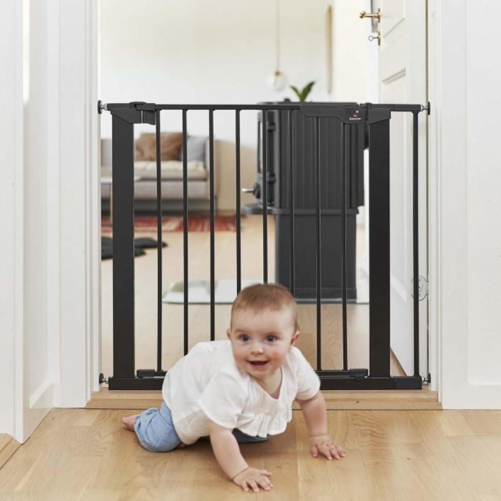 Babydan Babydan Deurhekje Asta Zwart + 2 verlengstukken