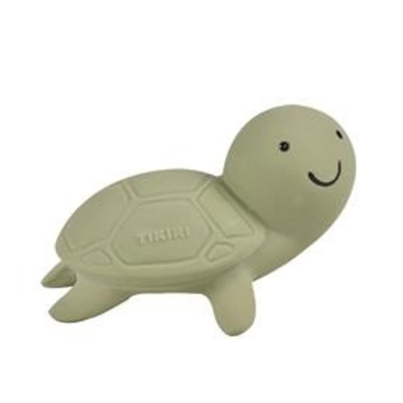 Tikiri Tikiri Badspeeltje met belletje in natuurlijk rubber Schildpad