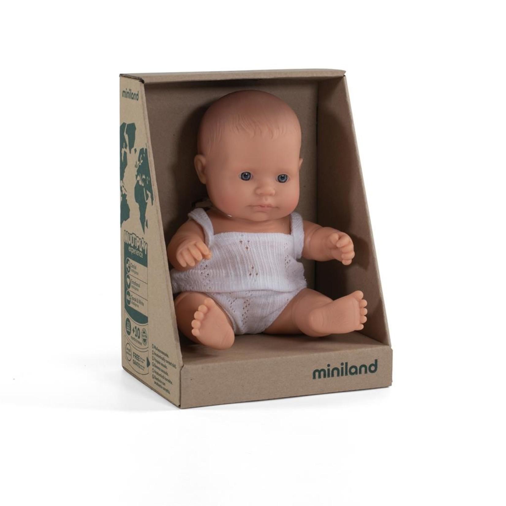 Miniland Miniland Babypop meisje 21cm met vanillegeur