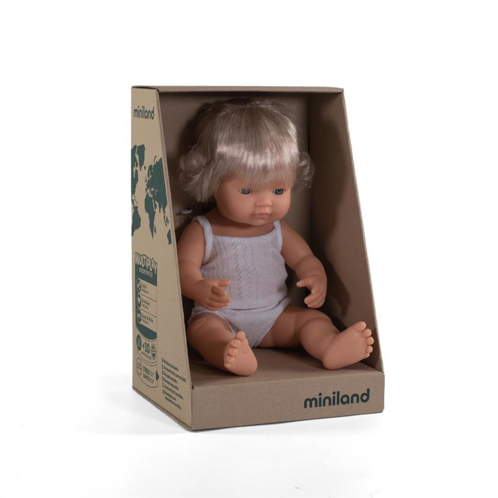 Miniland Miniland Babypop meisje 38cm met vanillegeur