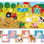 Ludattica Ludattica Set van 8 babypuzzels over de  boerderij