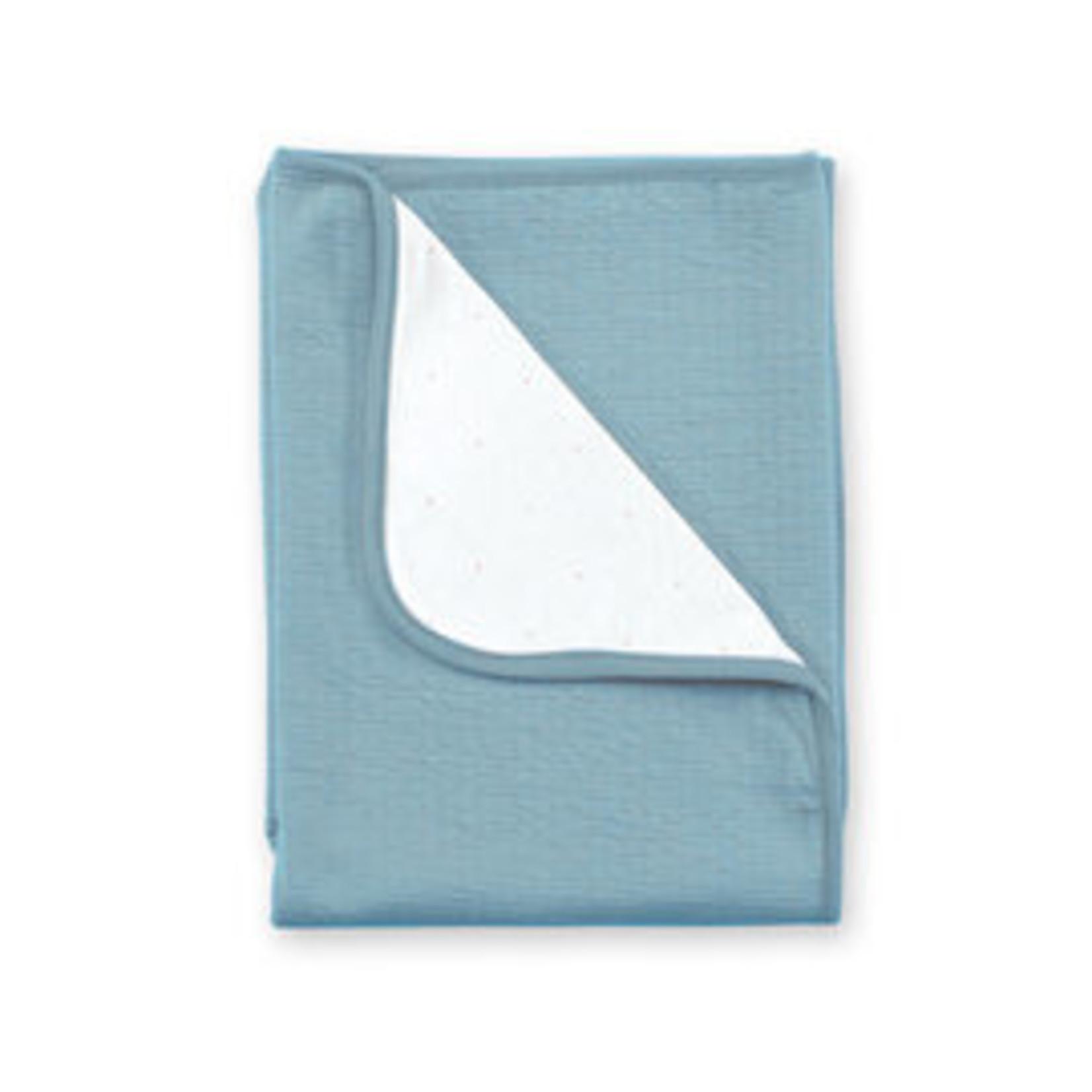 Bemini Bemini Deken 75x100cm Tetra Jersey Mineraal blauw