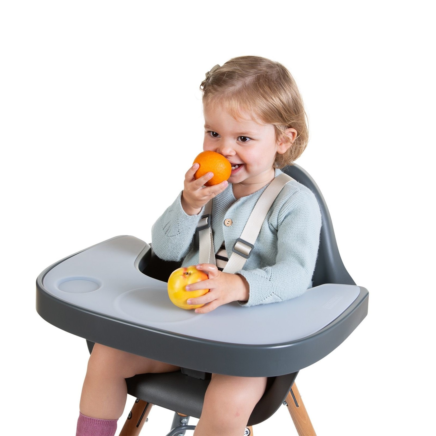 Childhome Childhome Eettablet Evolu 2 antraciet + Silicone placemat