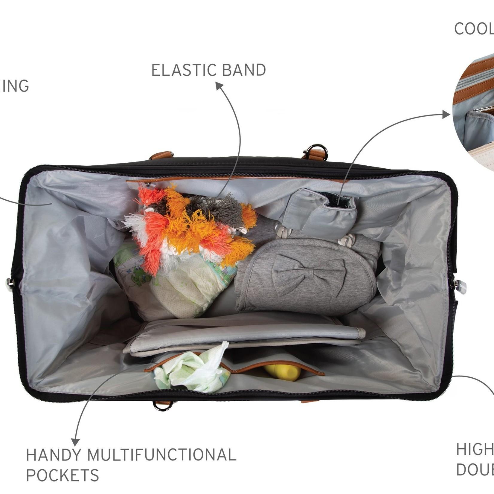 Childhome Childhome Mommy Bag Zwart/Goud