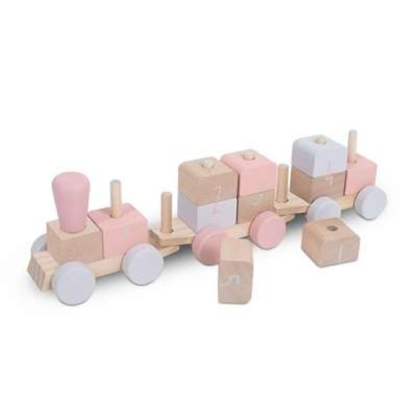 Jollein Jollein Houten Speelgoedtrein Pink