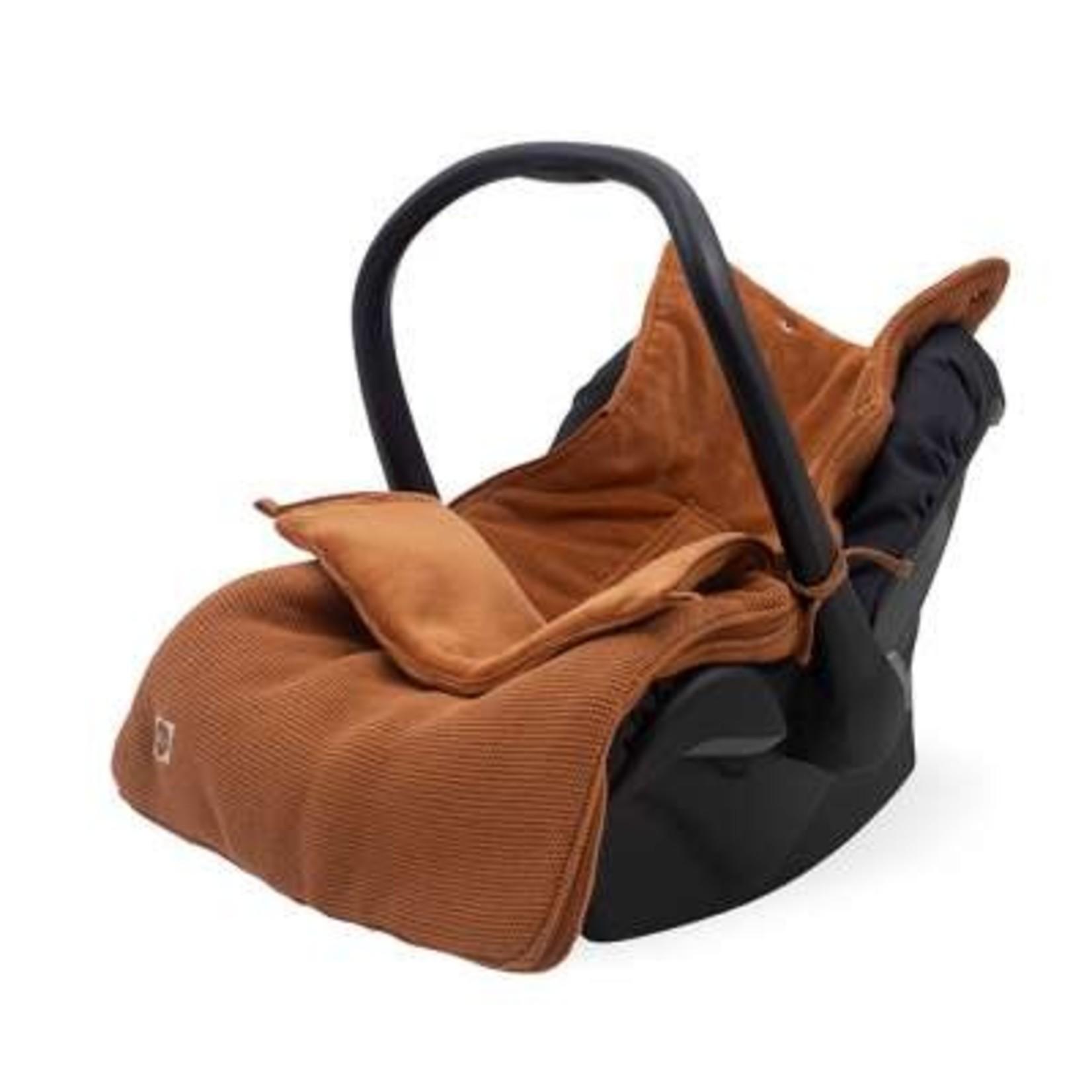Jollein Jollein Voetenzak Maxi-cosi Basic Knit Caramel