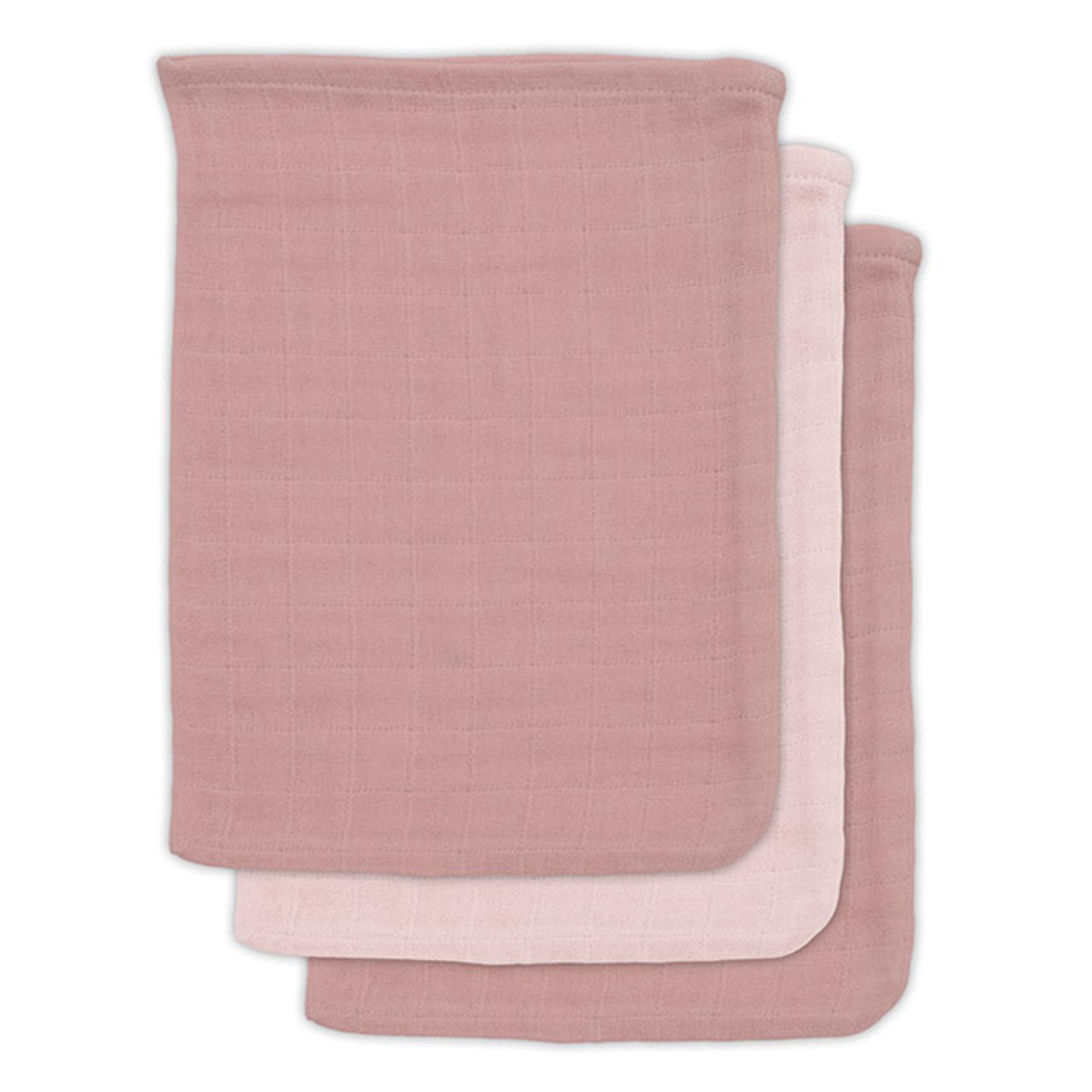 Jollein Jollein 3-pack Bamboe Tetra washandjes Pale pink