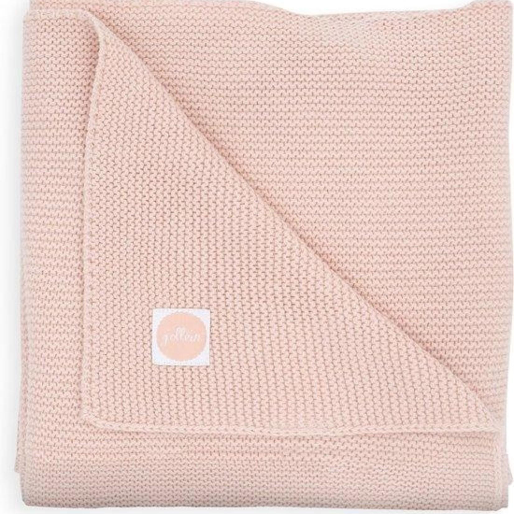 Jollein Jollein Deken Basic knit 75x100cm Pale pink