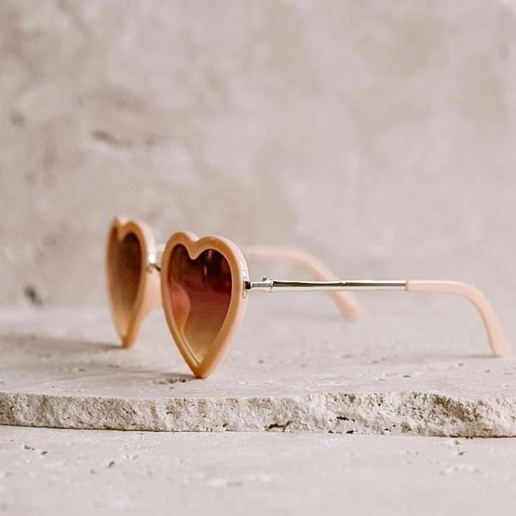 Elle porte Elle porte Zonnebril Hearts Peach love