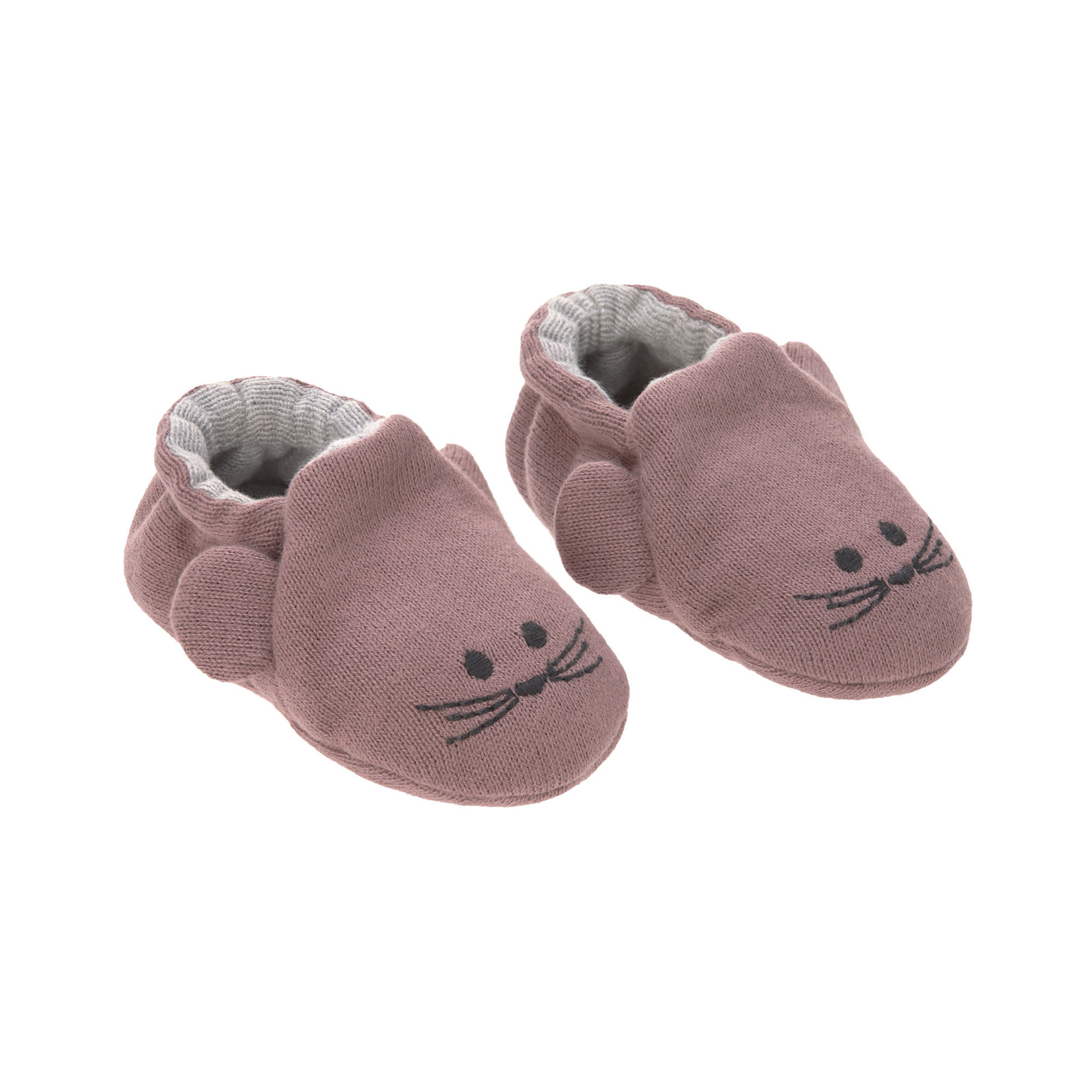 Lässig Lässig Babyschoentjes Gots Little chums mouse One size