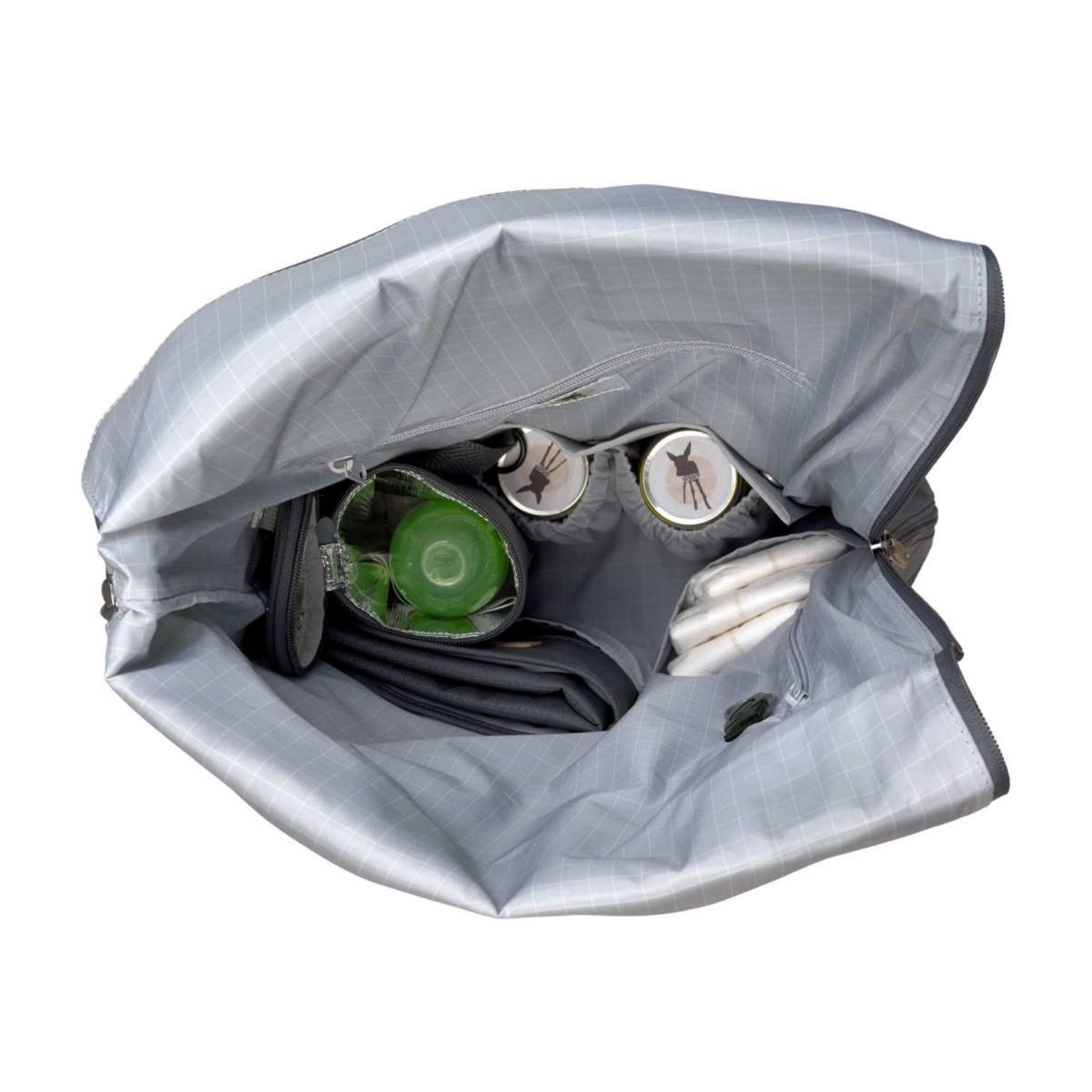 Lässig Lässig Verzorgingstas Rolltop backpack Antracite
