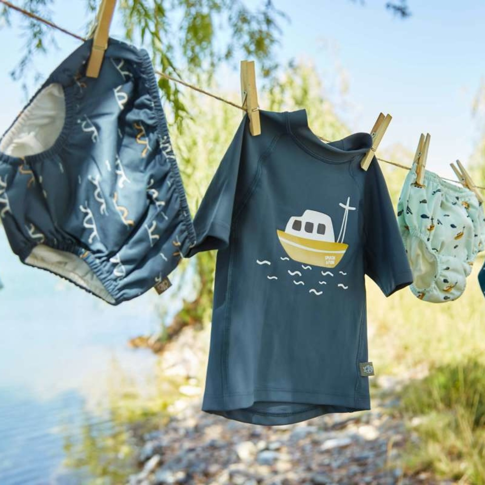 Lässig Lässig Zwem T-shirt Boat Blue
