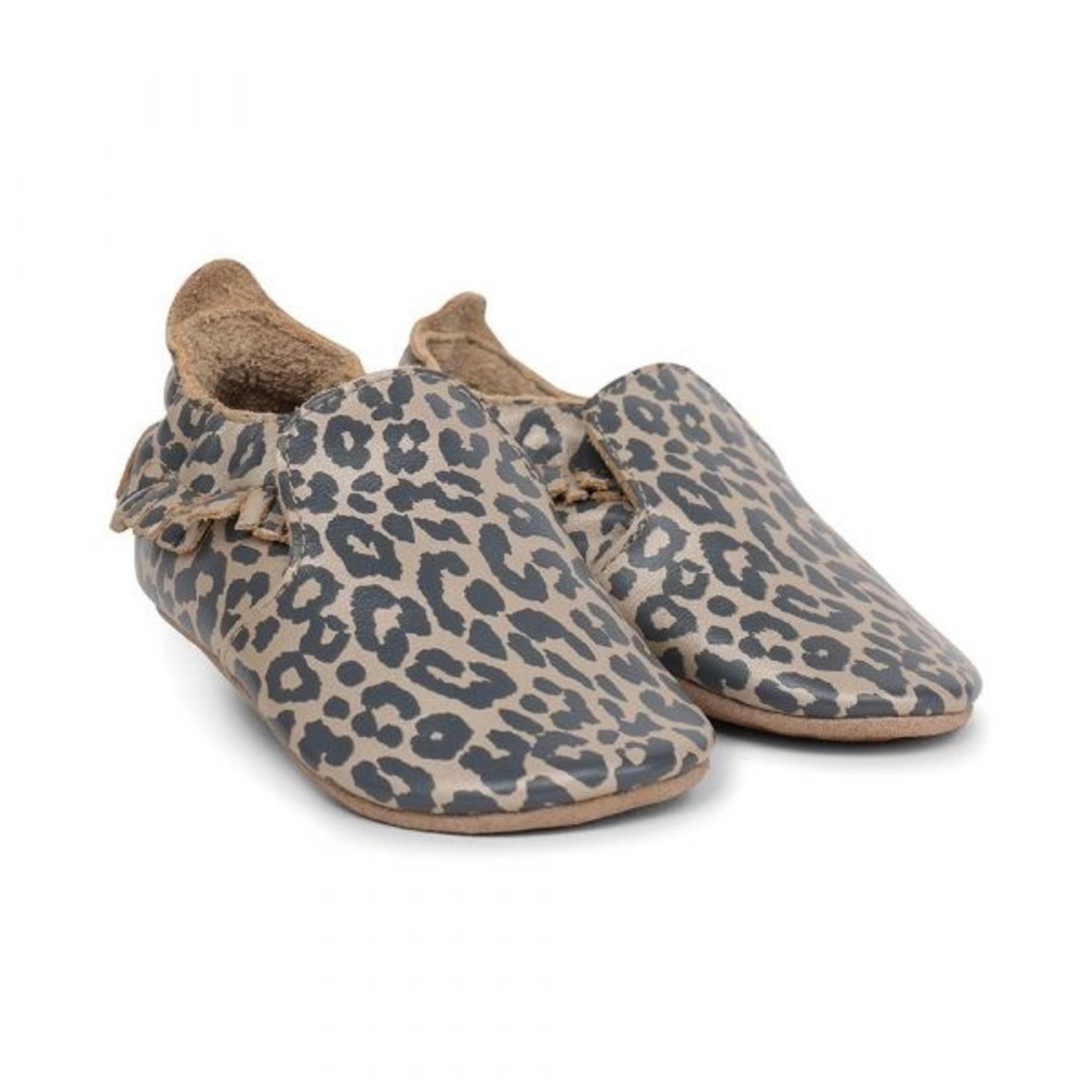 Bobux Bobux Soft soles Gold Leopard print