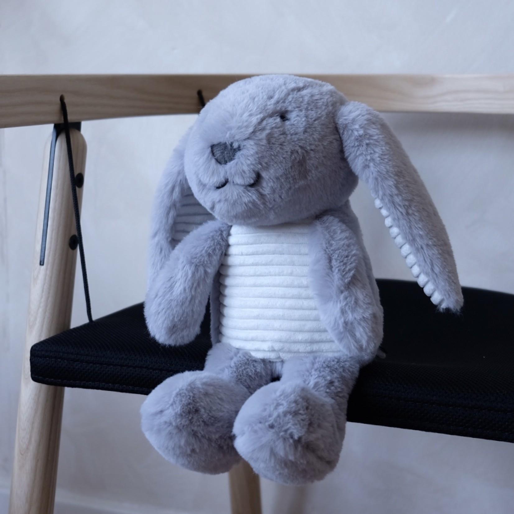 Flow Flow Knuffel met hartslag Milo The Rabbit Grijs