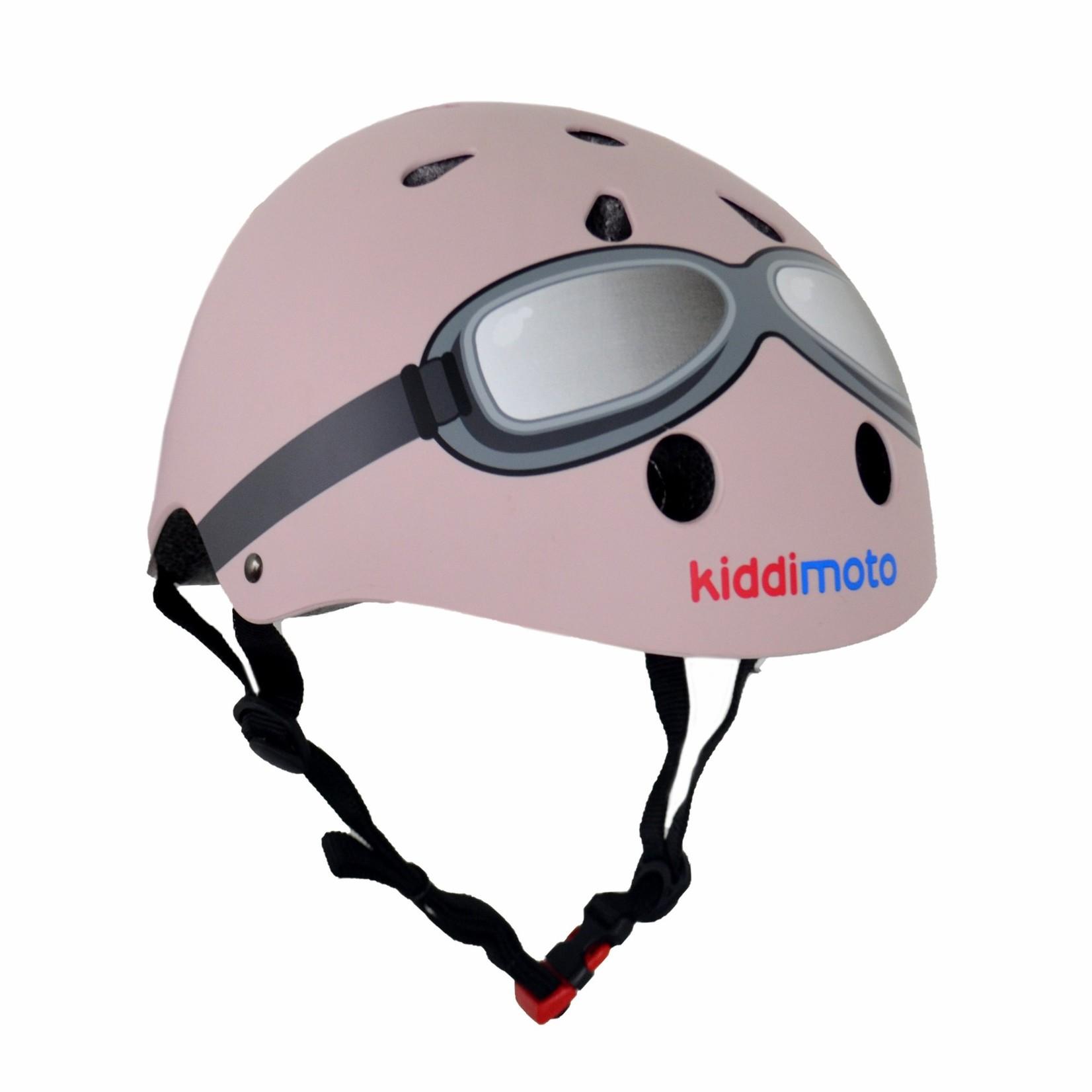 Kiddimoto Kiddimoto Kinderfietshelm Pastel Pink Goggle Small