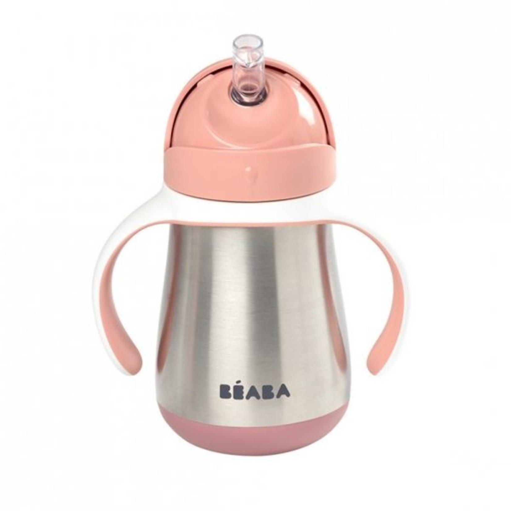 Beaba Beaba Inox Drinkbeker Rietje 250ml Roze