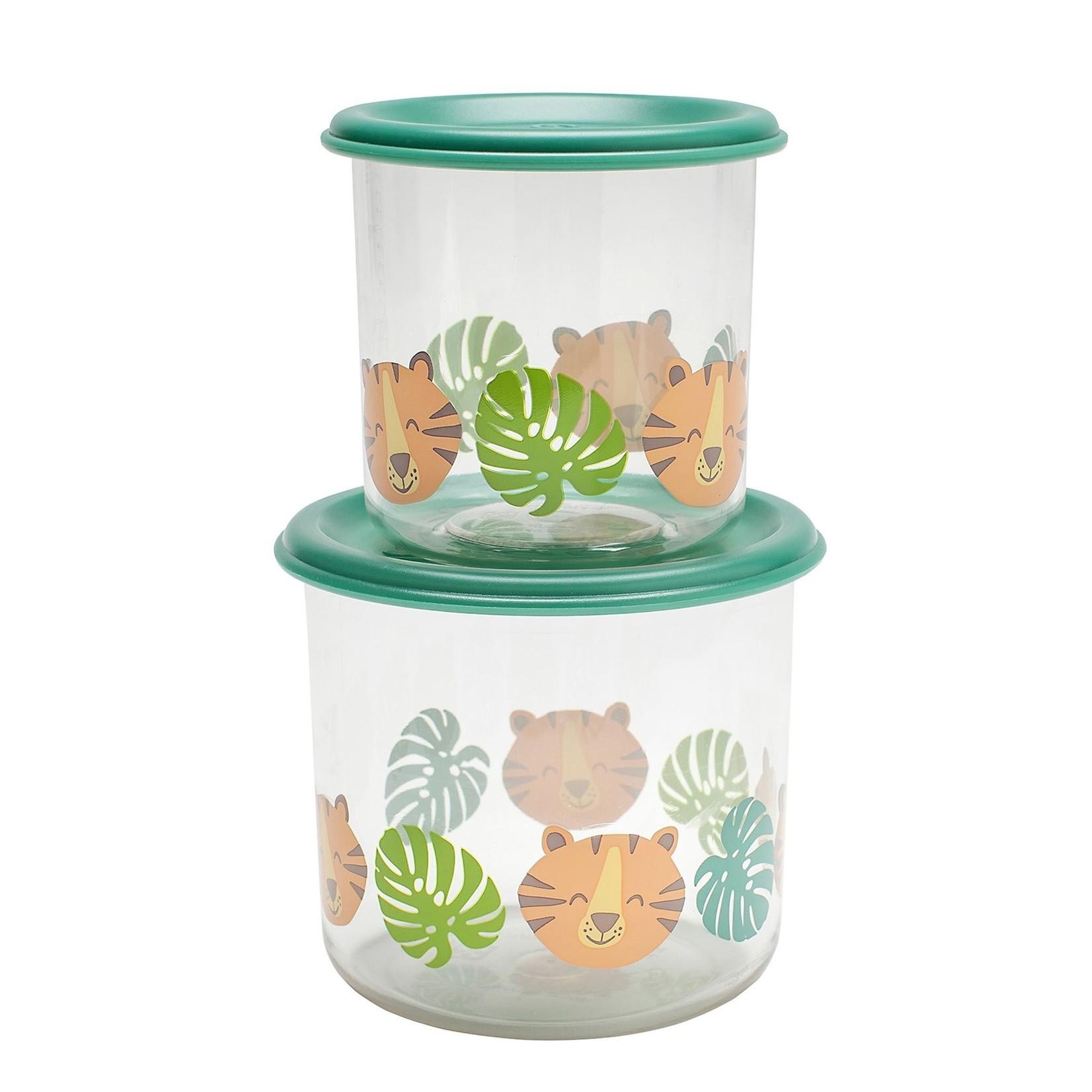 Sugarbooger Sugerbooger Set van 2 Snack Containers Tiger