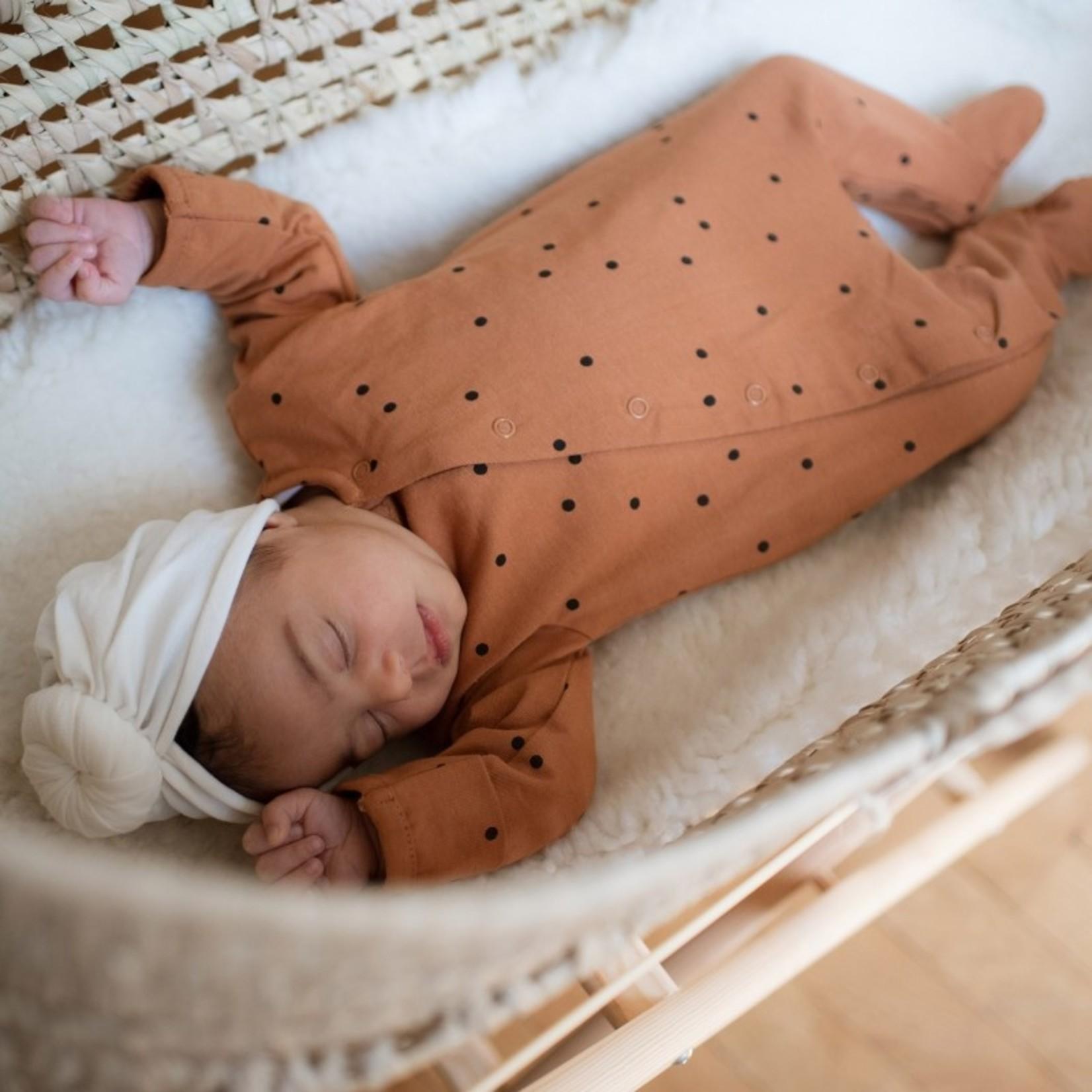 Bonjour Little Bonjour Little Babysuit Dots Nut