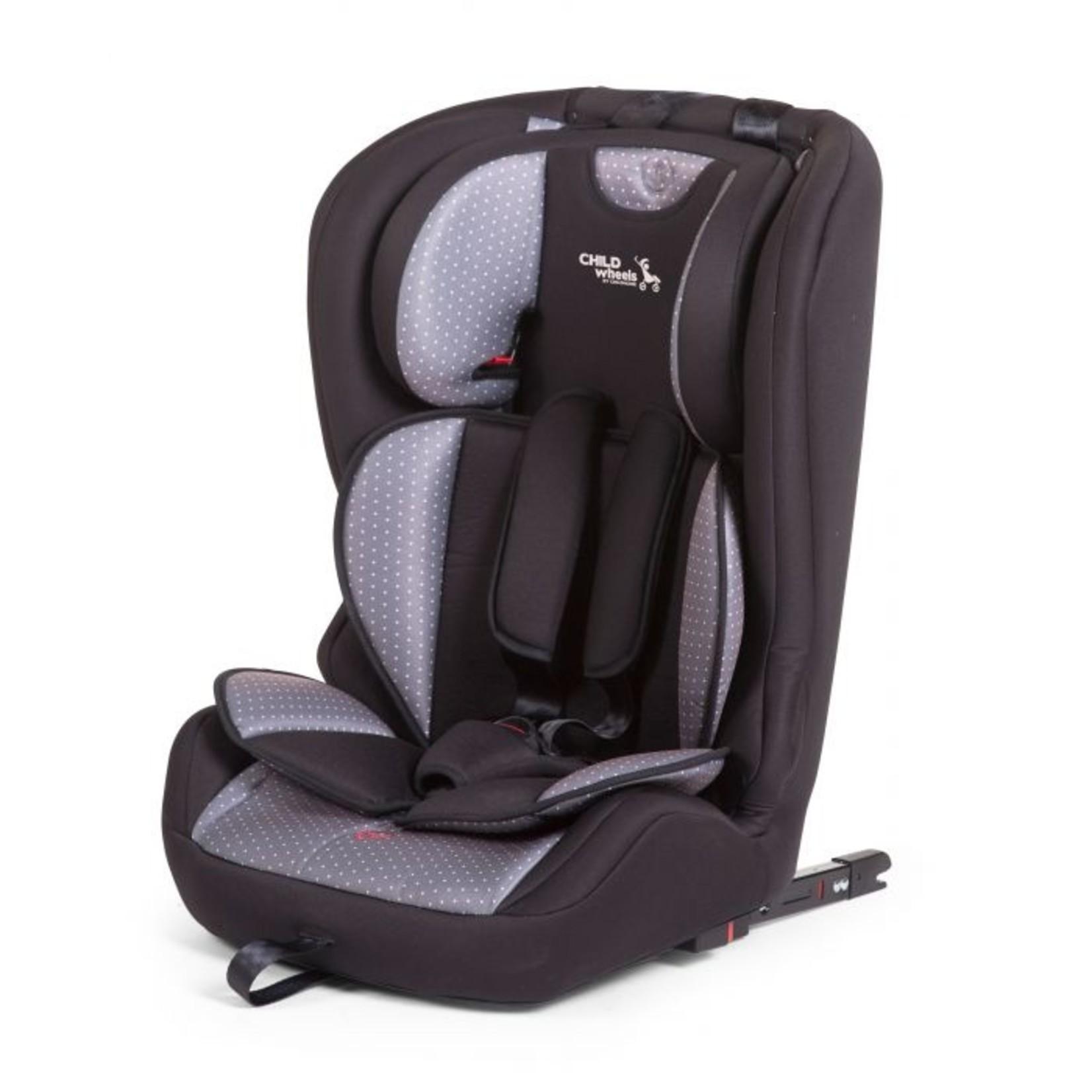 Childhome Childhome Autostoel Groep 1/2/3 Grijs Antracit