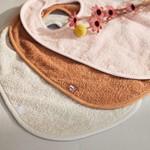 Jollein Jollein Set van 3 badstof slabbers Pink/Nougat/Caramel