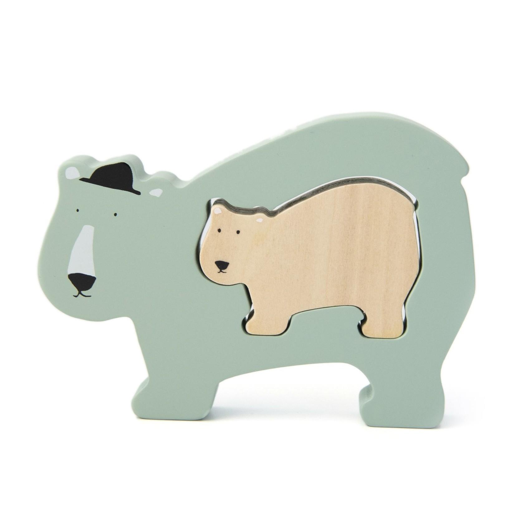 Trixie Trixie Houten baby puzzel Mr. Polar bear