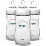 Avent Avent Set van 3 zuigflessen Natural transparant 330 ml - 3 stuks