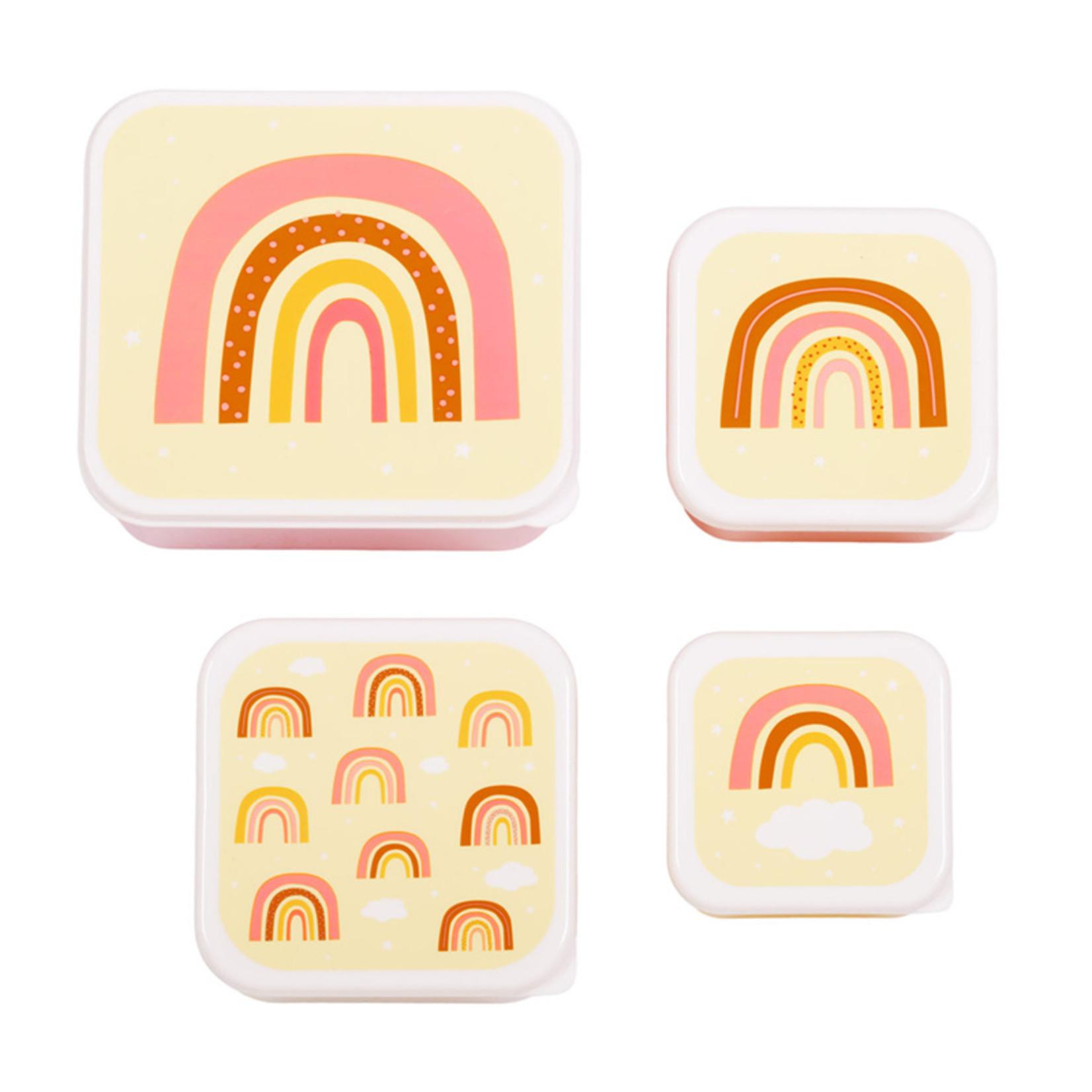 A Lovely Little Company A Lovely Little Company Lunch & Snack box set Regenbogen