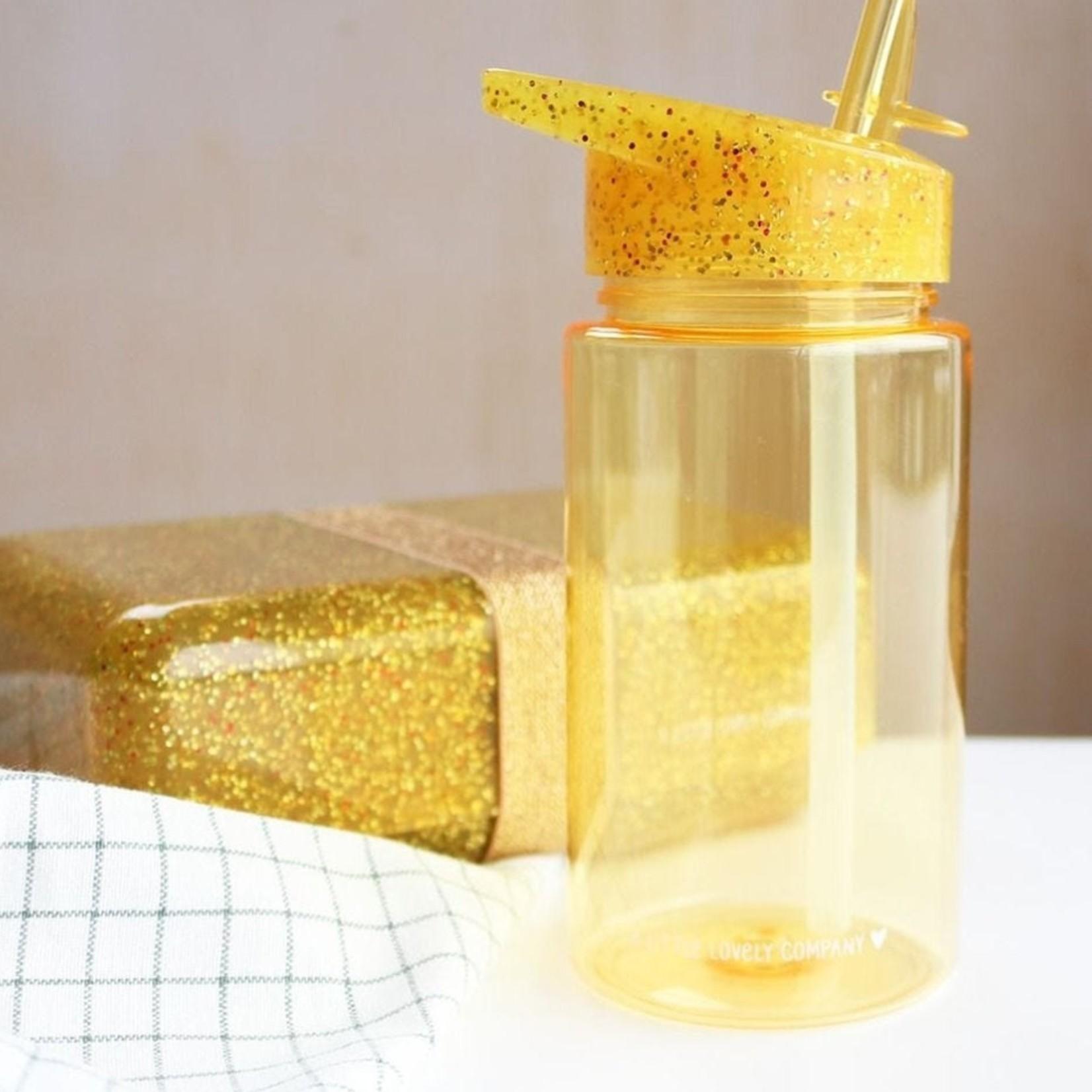 A Lovely Little Company A Lovely Little Company Drinkfles Glitter Goud