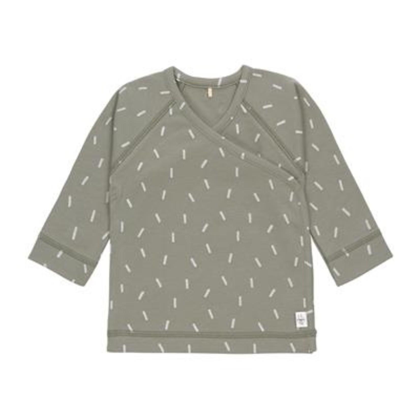 Lässig Lässig Kimono Shirt Gots Speckles Olive